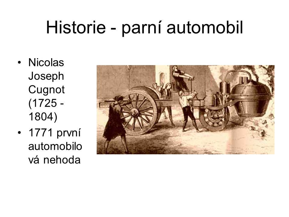 Historie - parní automobil