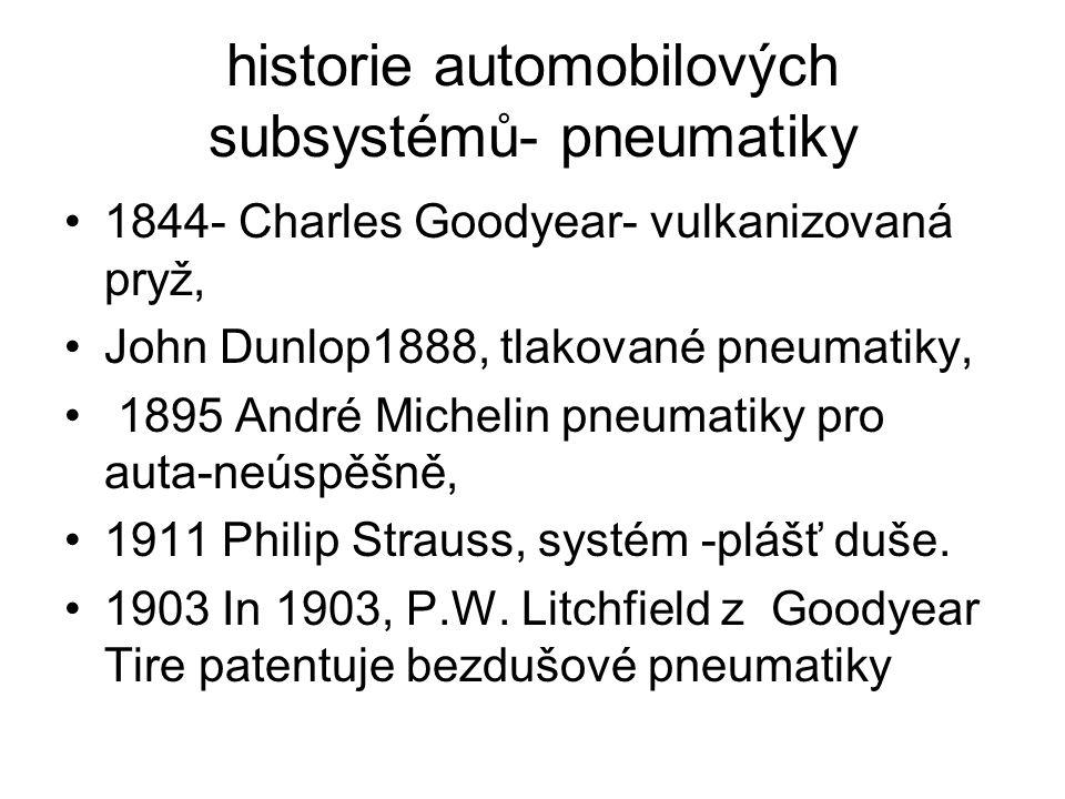historie automobilových subsystémů- pneumatiky