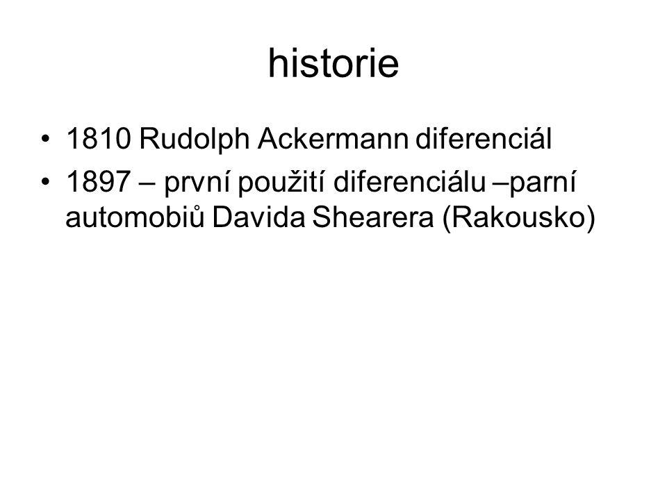 historie 1810 Rudolph Ackermann diferenciál