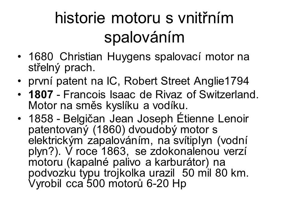 historie motoru s vnitřním spalováním