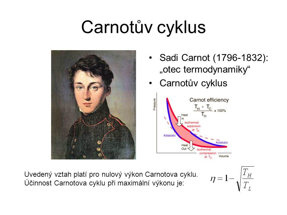 "Carnotův cyklus Sadi Carnot (1796-1832): ""otec termodynamiky"