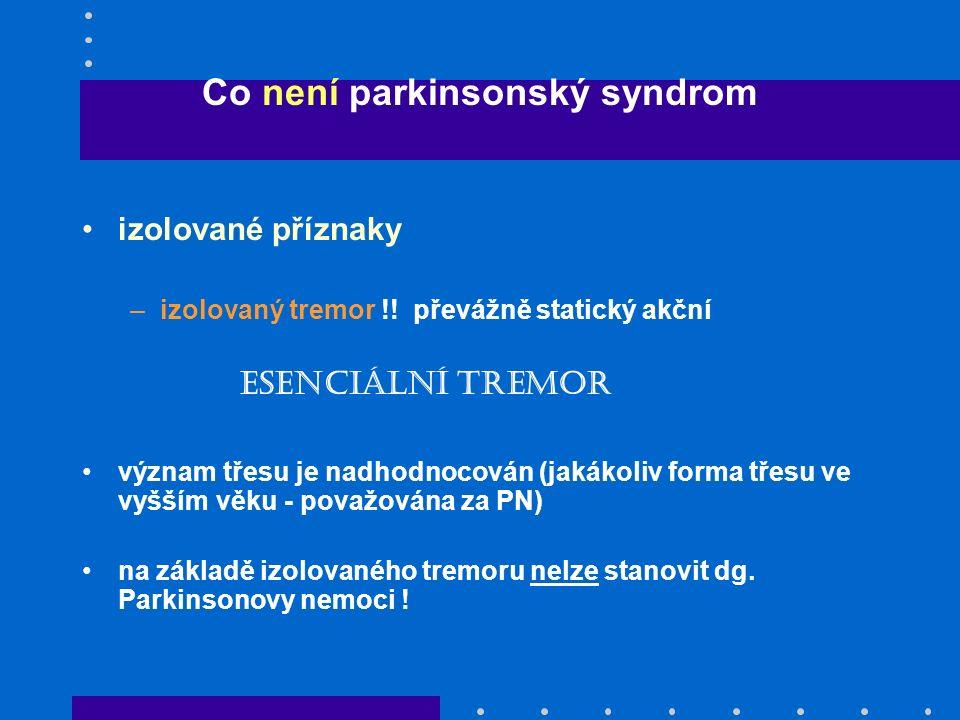 Co není parkinsonský syndrom