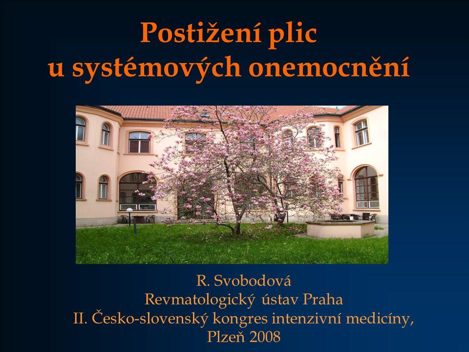 Postižení plic u systémových onemocnění