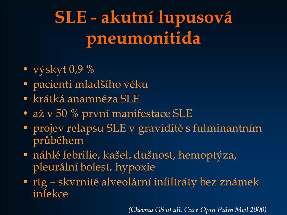 SLE - akutní lupusová pneumonitida