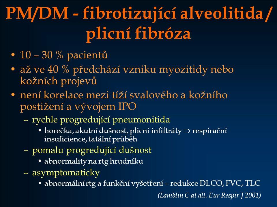 PM/DM - fibrotizující alveolitida / plicní fibróza
