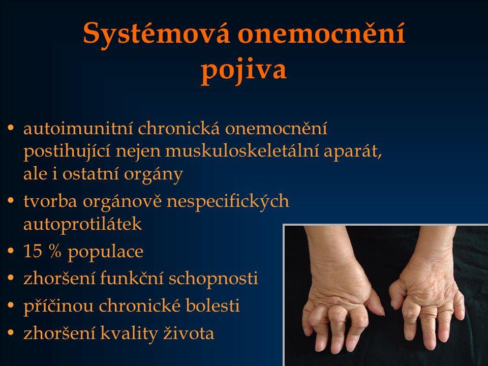 Systémová onemocnění pojiva