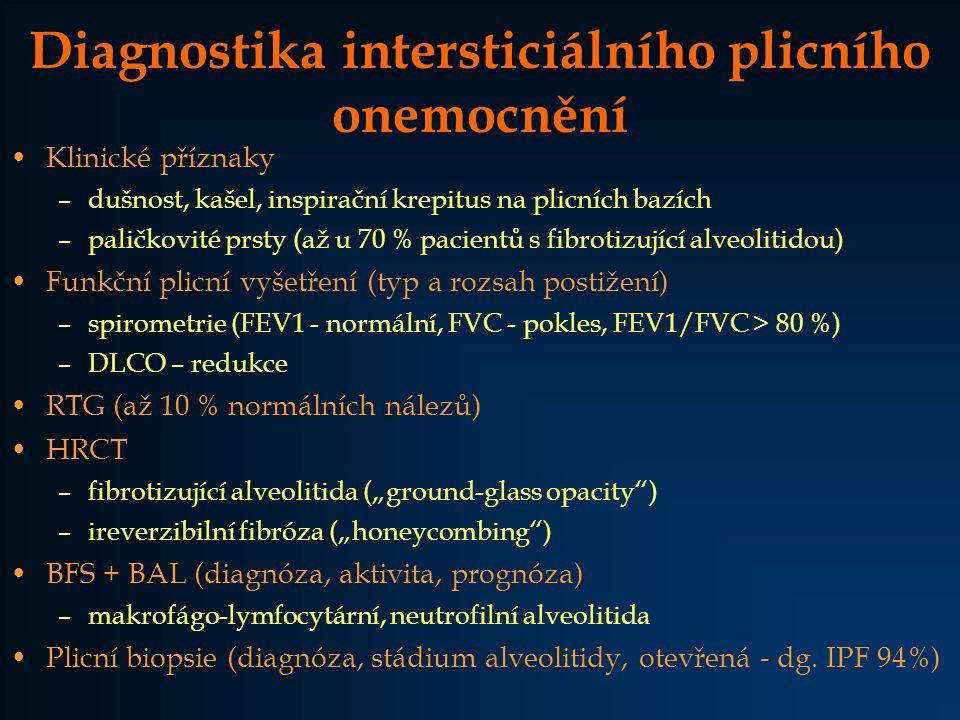Diagnostika intersticiálního plicního onemocnění