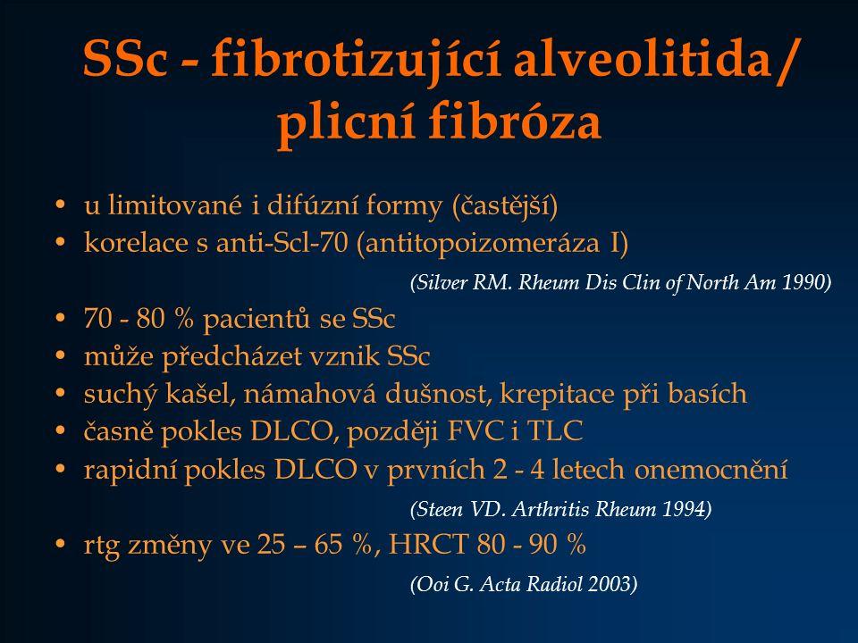 SSc - fibrotizující alveolitida / plicní fibróza