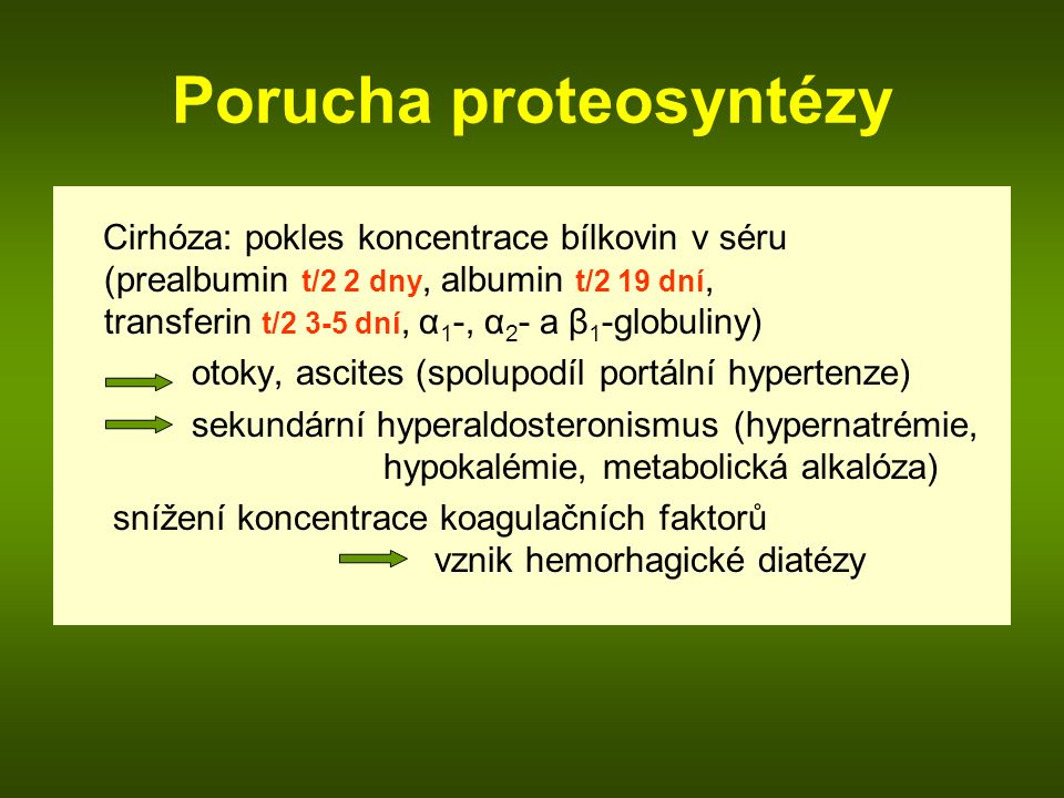 Porucha proteosyntézy