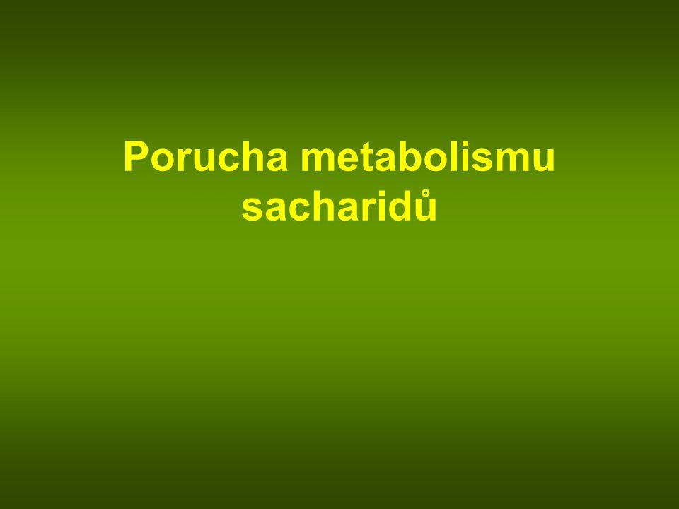Porucha metabolismu sacharidů