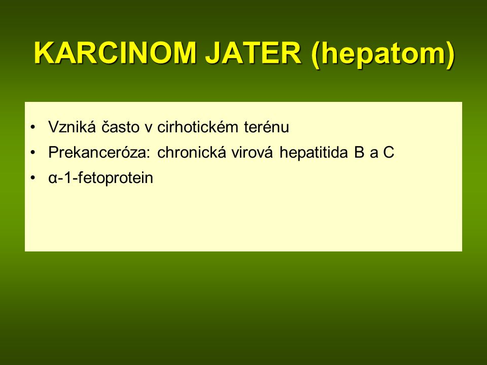 KARCINOM JATER (hepatom)