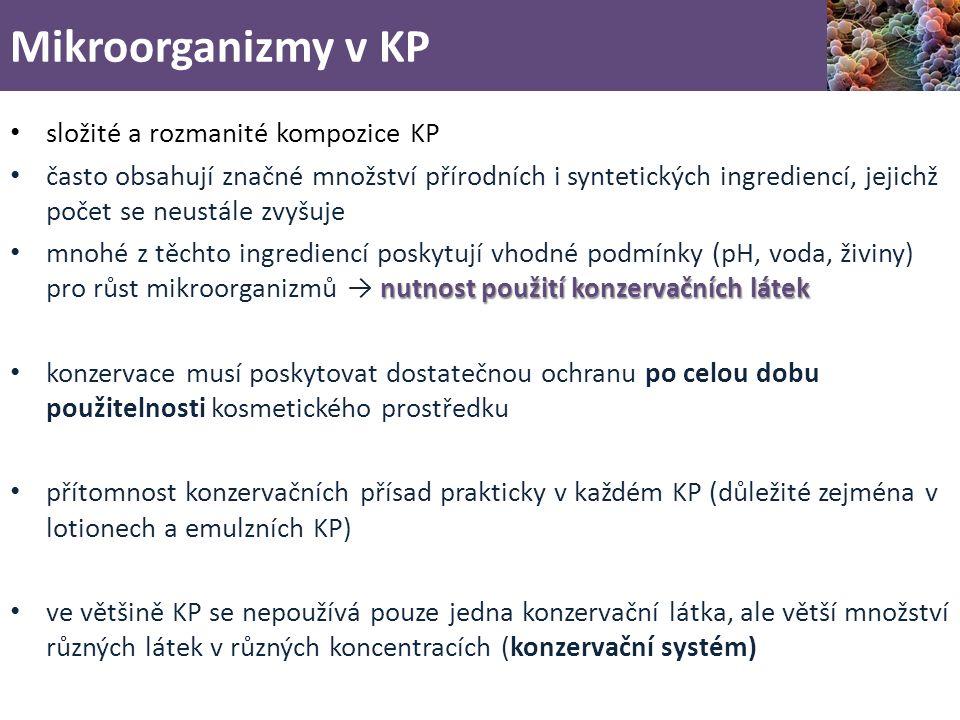Mikroorganizmy v KP složité a rozmanité kompozice KP