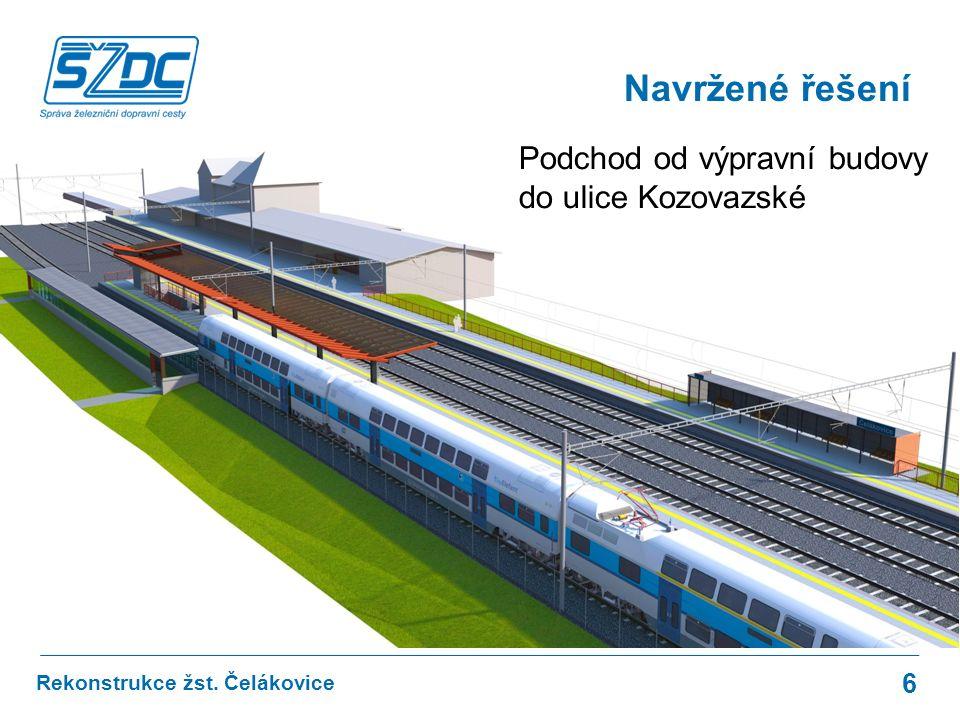 Navržené řešení Podchod od výpravní budovy do ulice Kozovazské 6