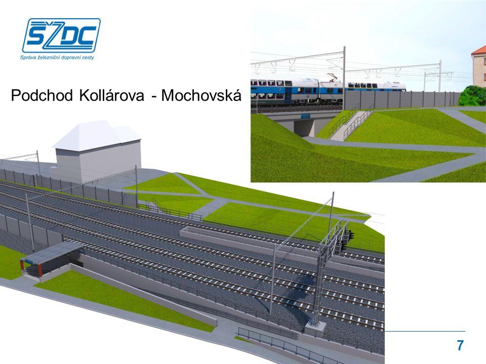 Navržené řešení Podchod Kollárova - Mochovská 7