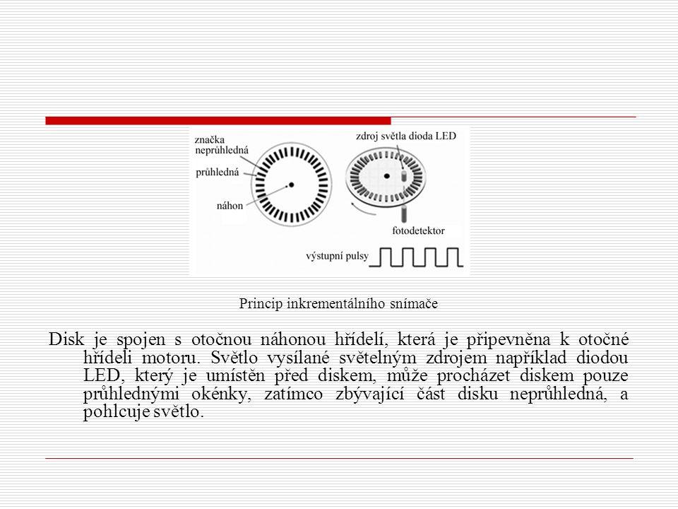 Princip inkrementálního snímače