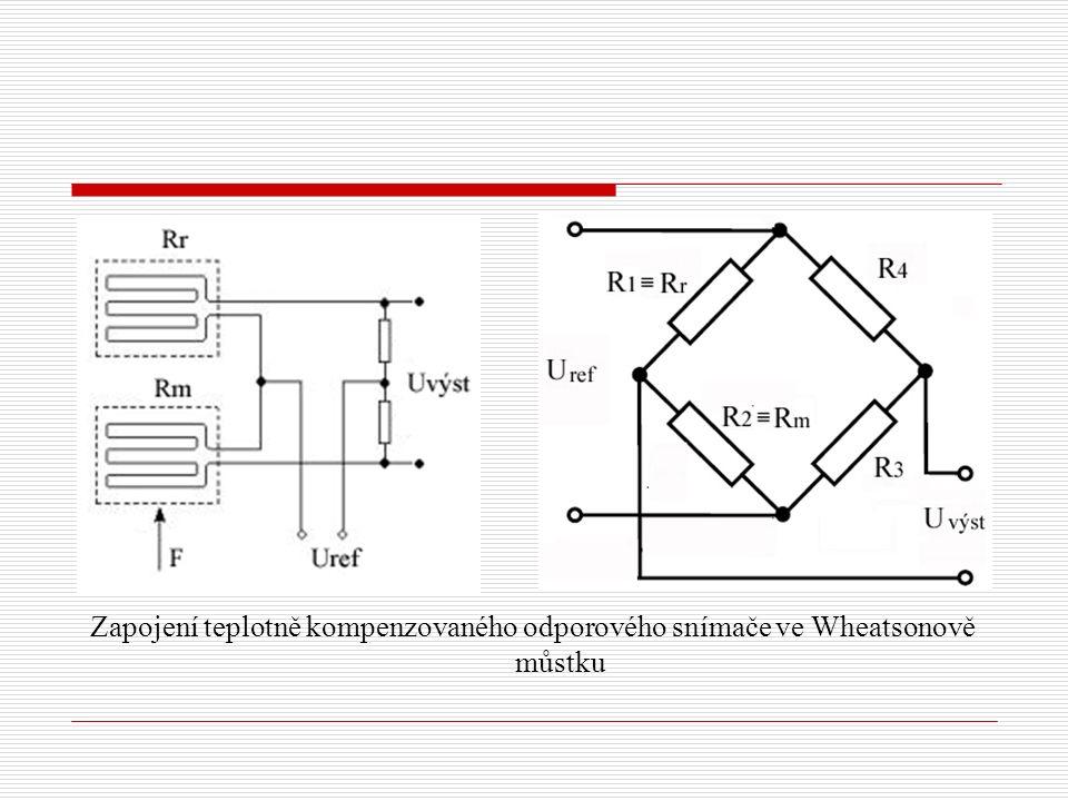 Zapojení teplotně kompenzovaného odporového snímače ve Wheatsonově můstku