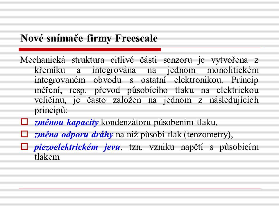 Nové snímače firmy Freescale