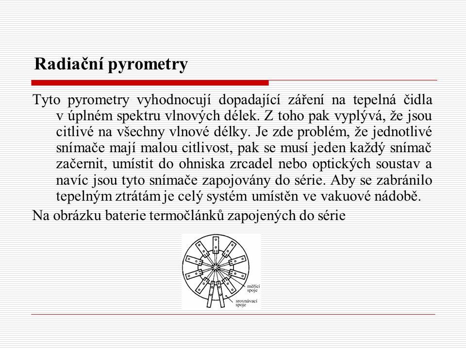 Radiační pyrometry