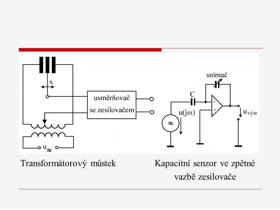 Transformátorový můstek Kapacitní senzor ve zpětné
