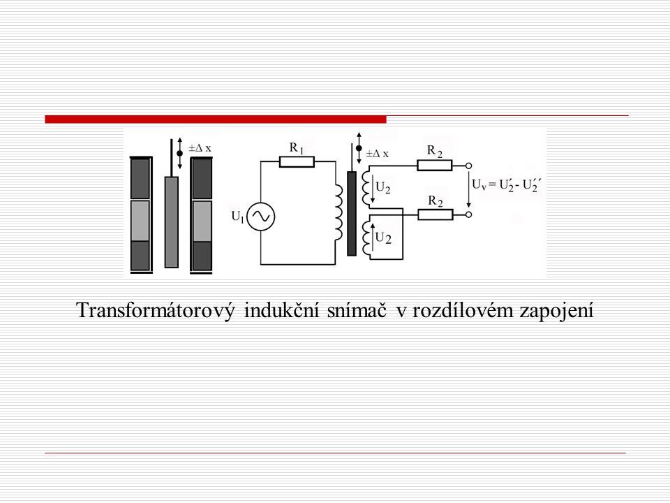 Transformátorový indukční snímač v rozdílovém zapojení