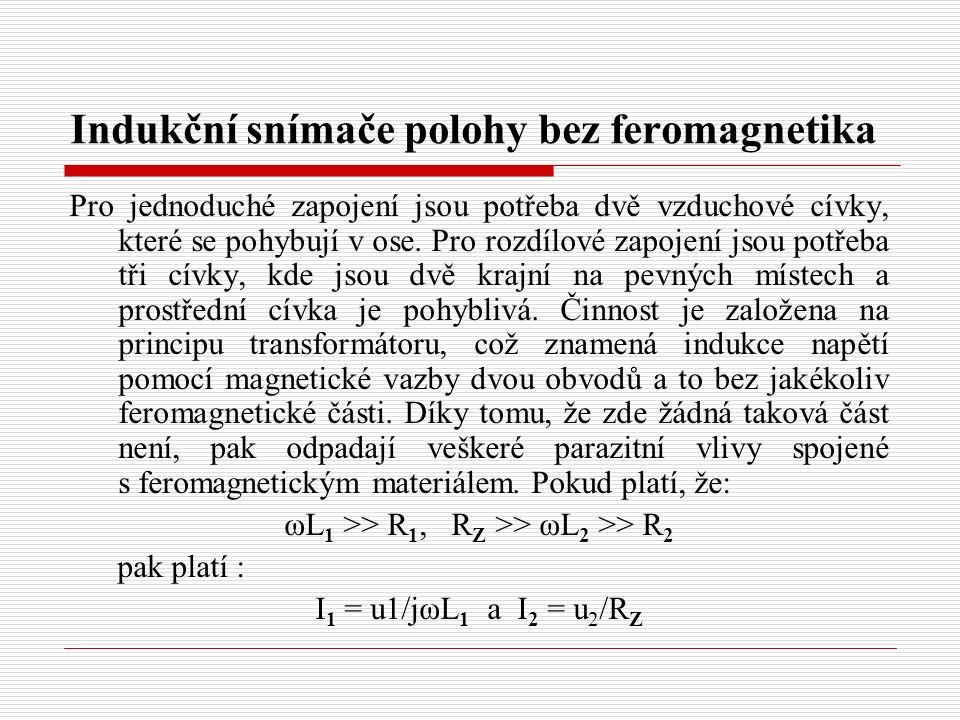 Indukční snímače polohy bez feromagnetika