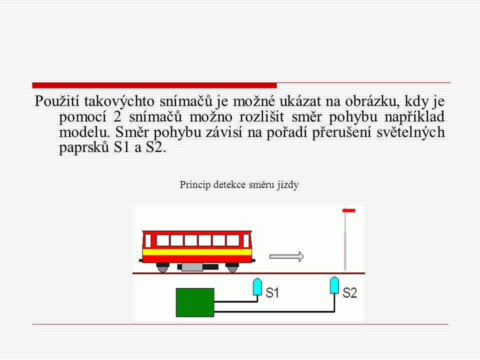 Princip detekce směru jízdy