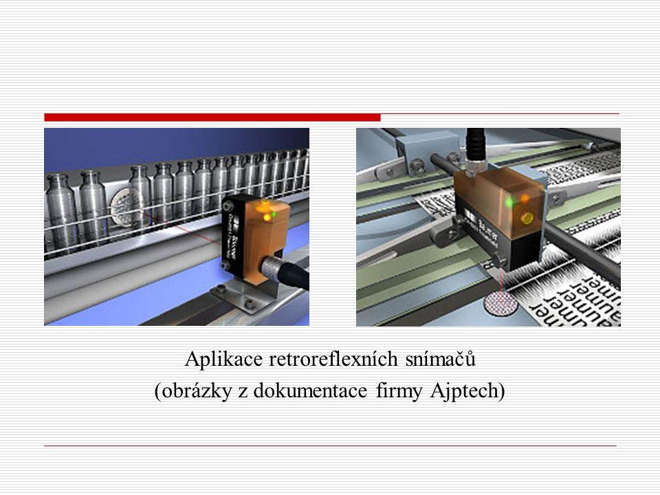 Aplikace retroreflexních snímačů (obrázky z dokumentace firmy Ajptech)