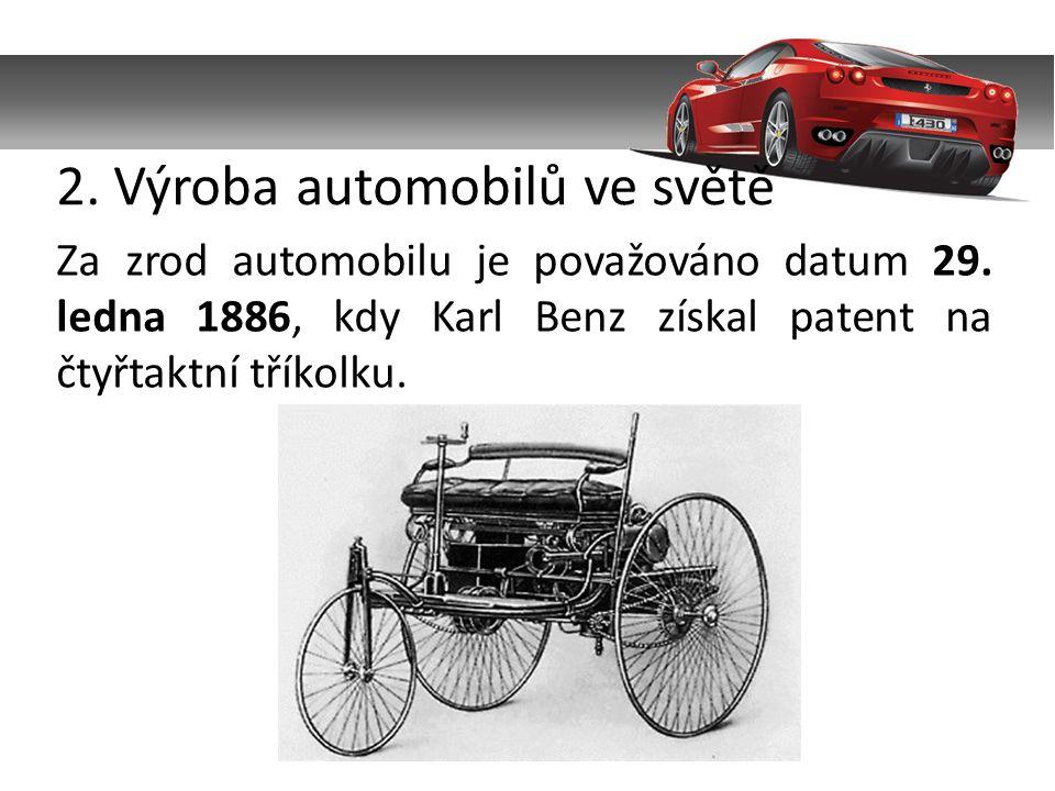 2. Výroba automobilů ve světě