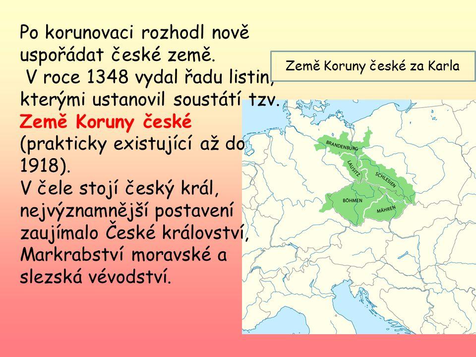 Země Koruny české za Karla