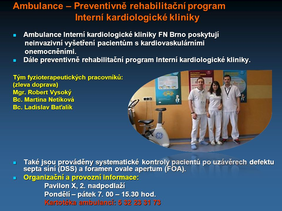 Ambulance – Preventivně rehabilitační program