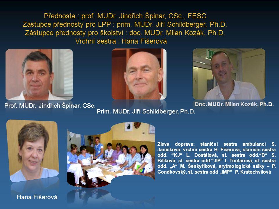 Přednosta : prof. MUDr. Jindřich Špinar, CSc., FESC