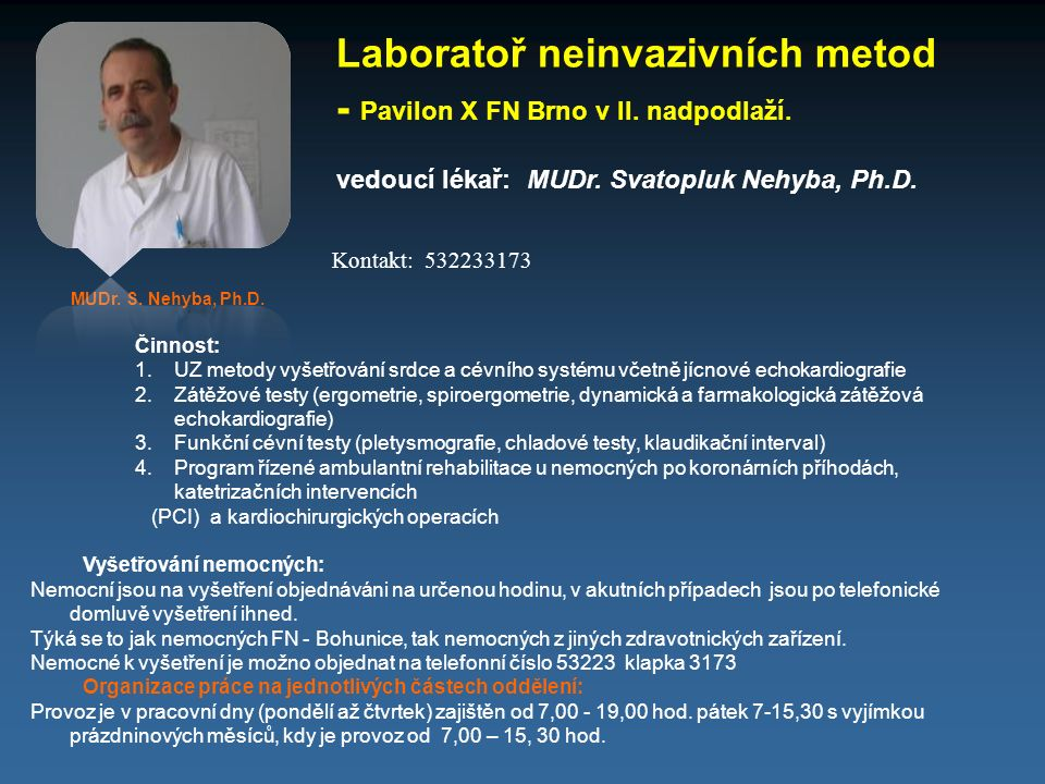 Laboratoř neinvazivních metod -