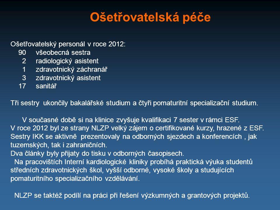 Ošetřovatelská péče Ošetřovatelský personál v roce 2012: