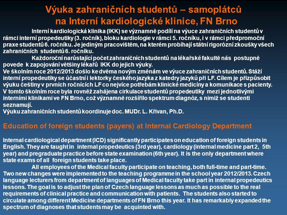 Výuka zahraničních studentů – samoplátců