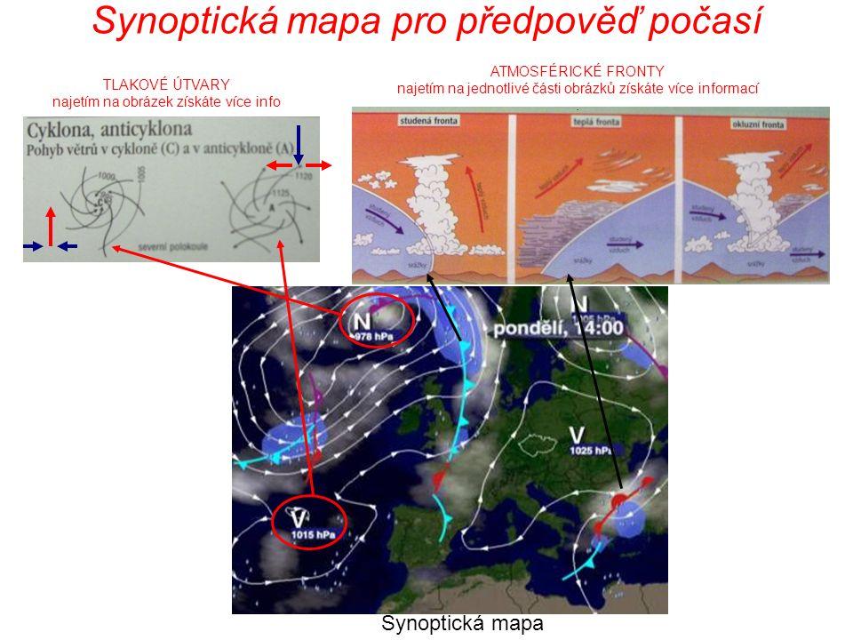 Synoptická mapa pro předpověď počasí