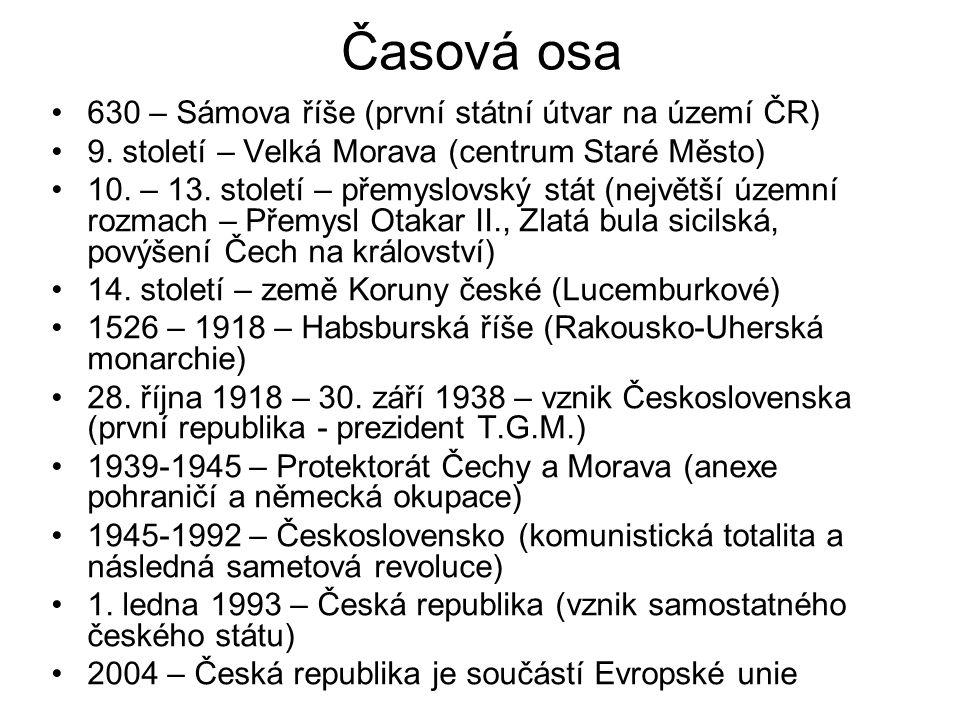 Časová osa 630 – Sámova říše (první státní útvar na území ČR)