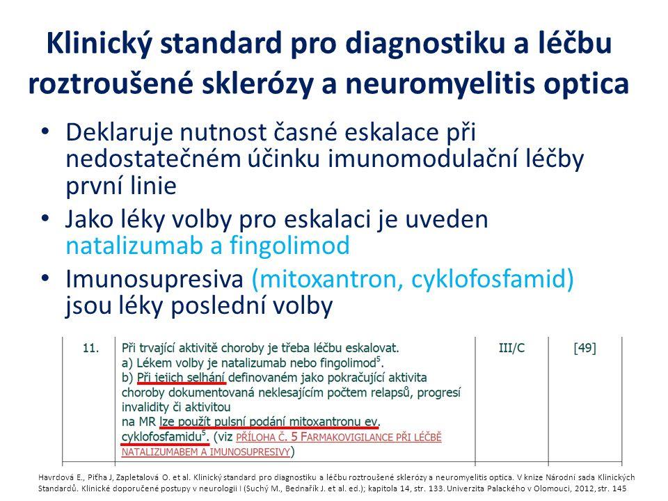 Klinický standard pro diagnostiku a léčbu roztroušené sklerózy a neuromyelitis optica