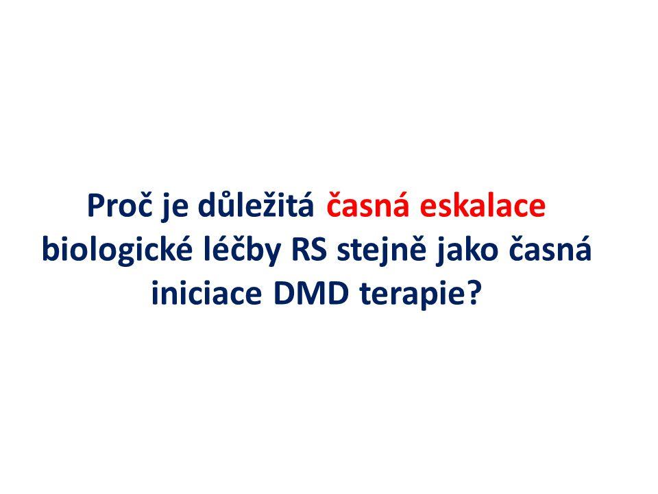 Proč je důležitá časná eskalace biologické léčby RS stejně jako časná iniciace DMD terapie
