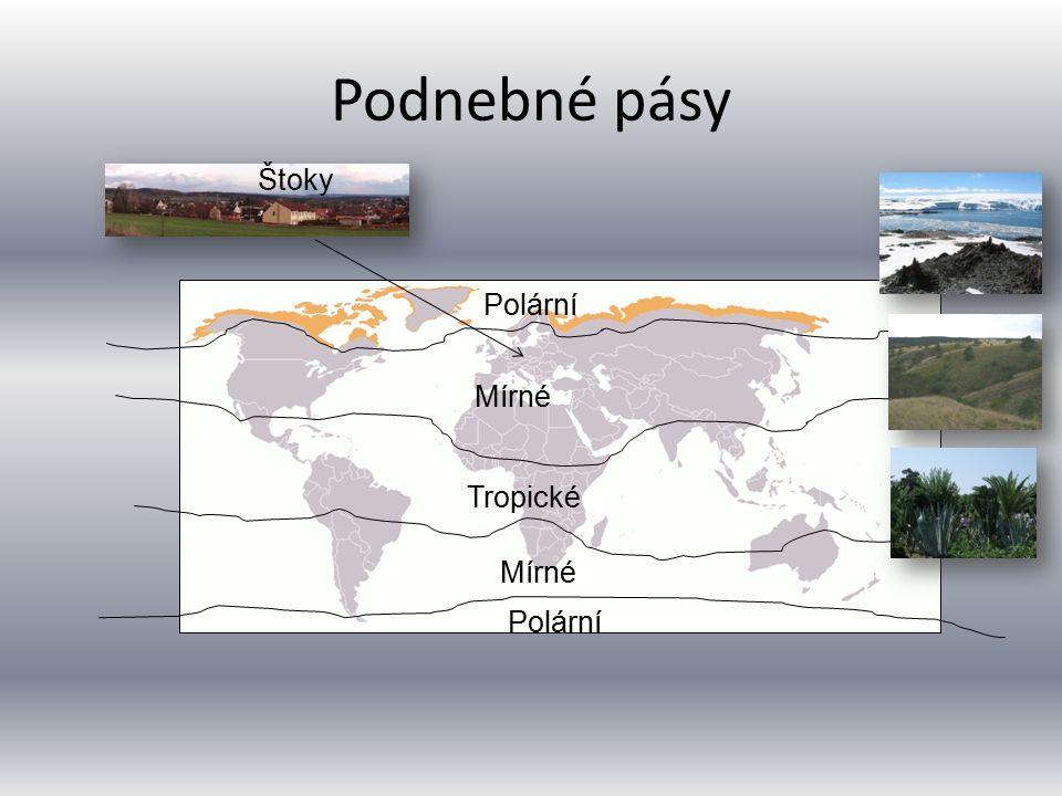 Podnebné pásy Štoky Polární Mírné Tropické Mírné Polární