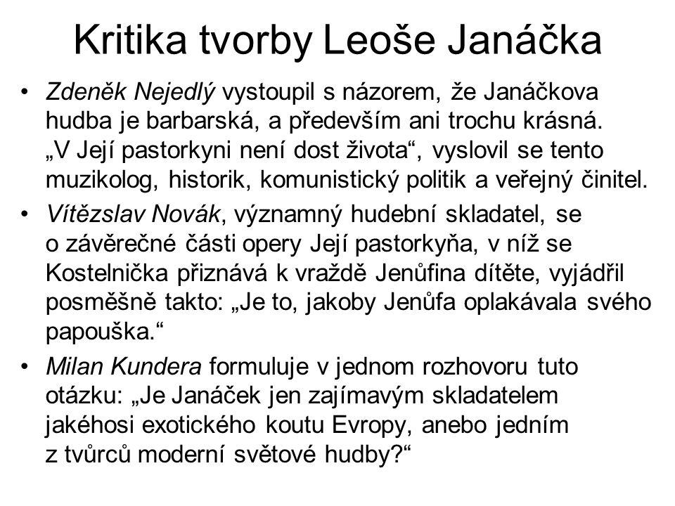 Kritika tvorby Leoše Janáčka