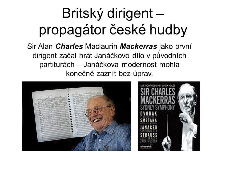 Britský dirigent – propagátor české hudby