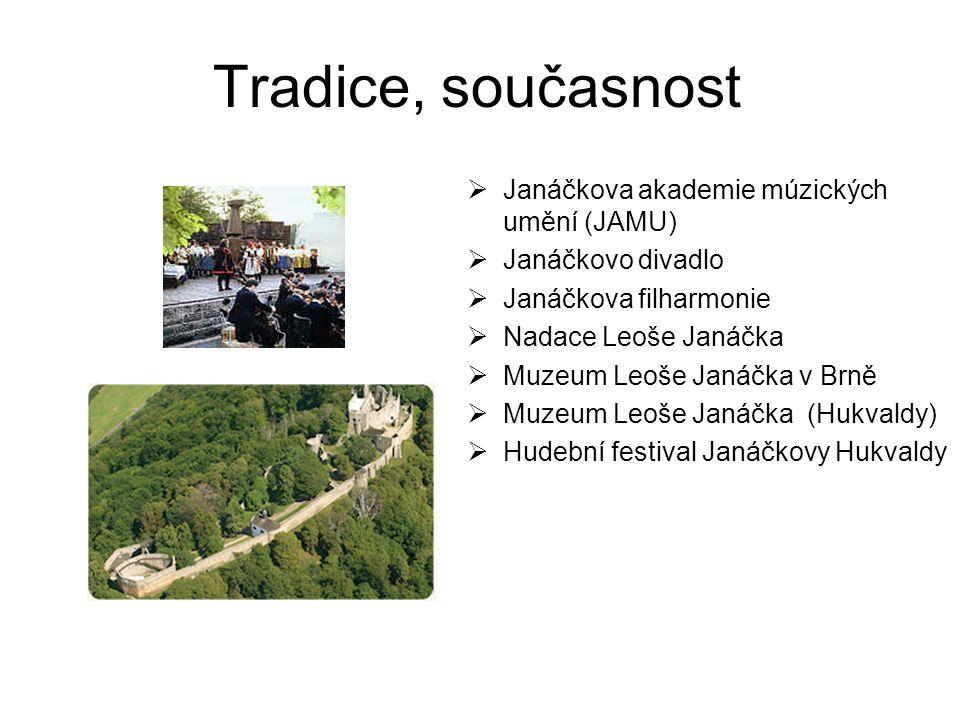 Tradice, současnost Janáčkova akademie múzických umění (JAMU)
