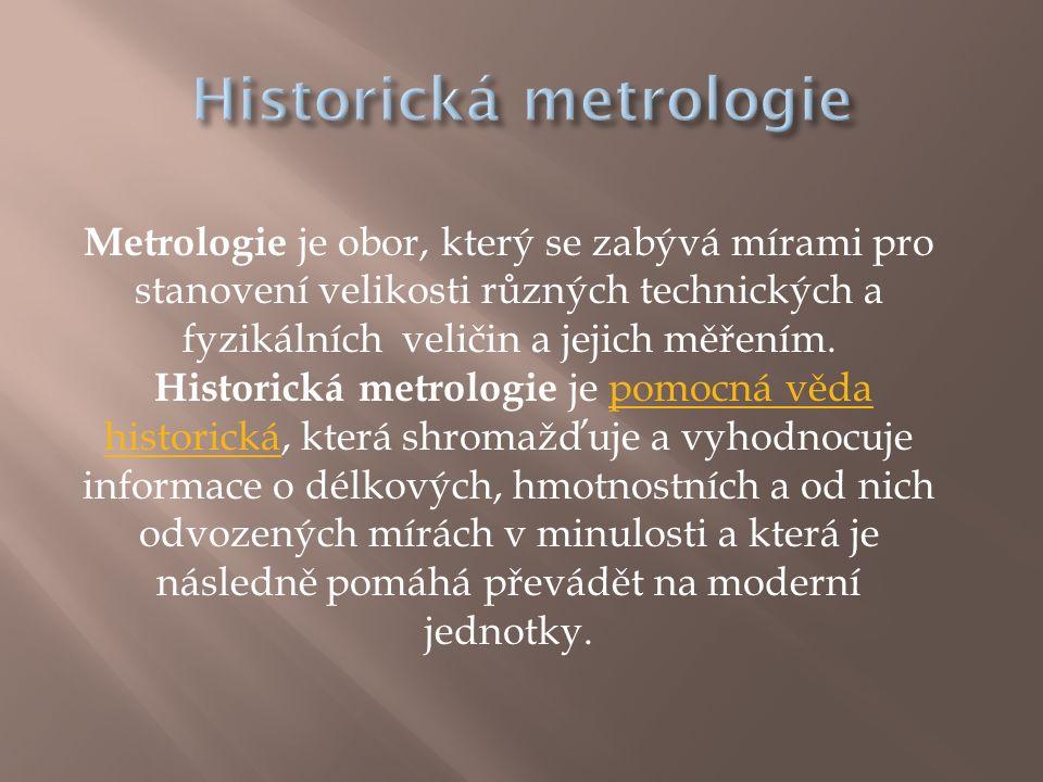 Historická metrologie