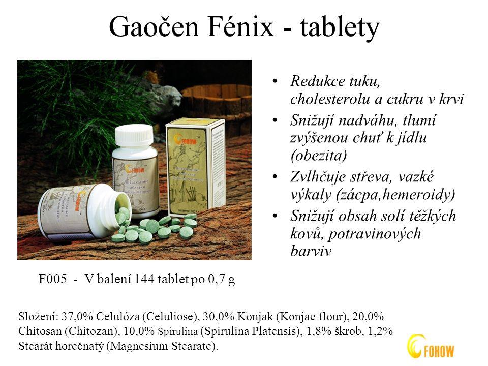 Gaočen Fénix - tablety Redukce tuku, cholesterolu a cukru v krvi