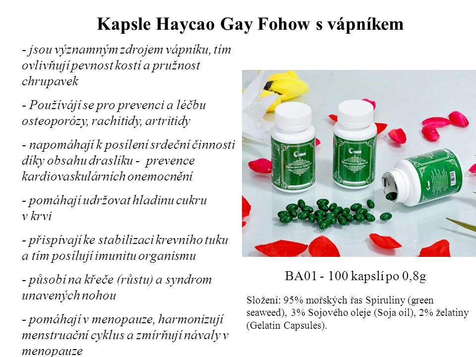 Kapsle Haycao Gay Fohow s vápníkem