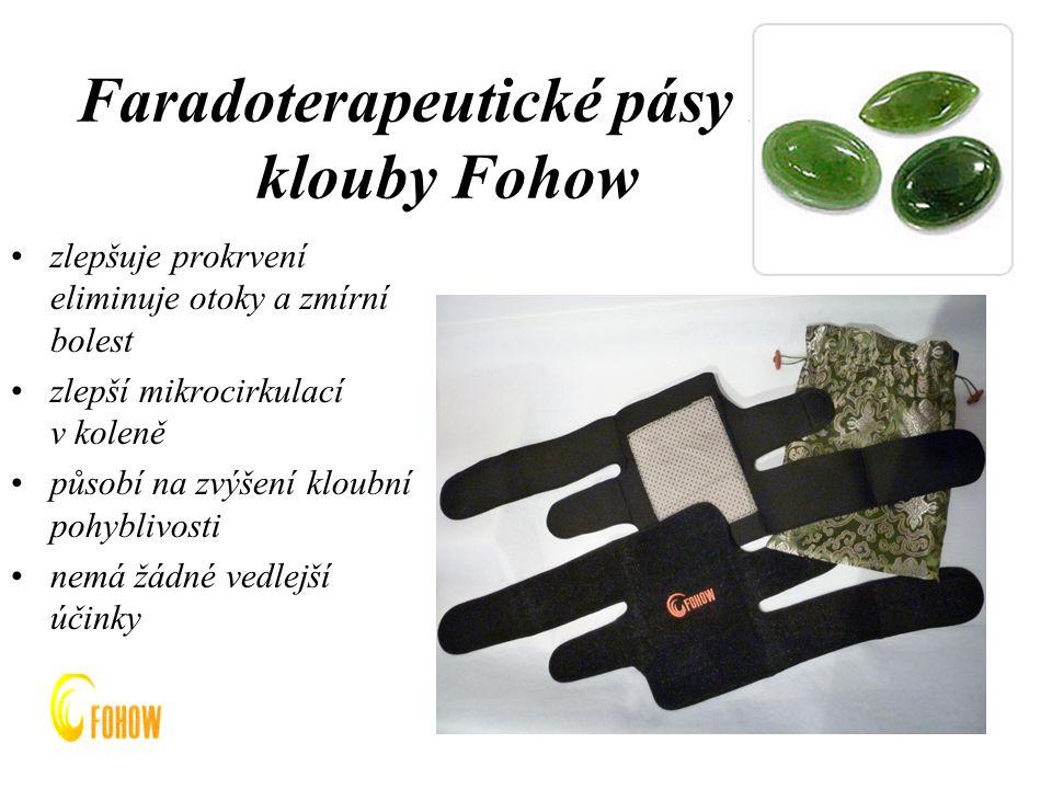 Faradoterapeutické pásy na klouby Fohow
