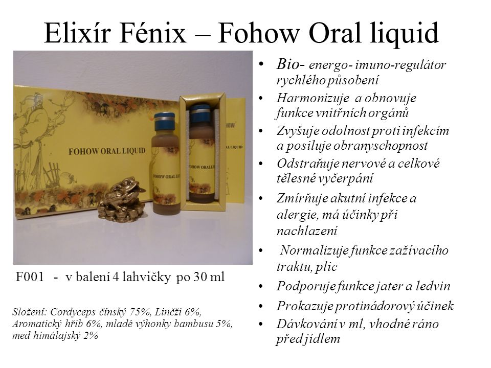 Elixír Fénix – Fohow Oral liquid