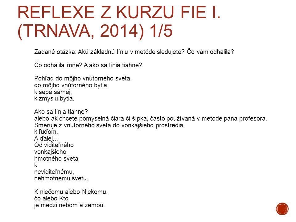 Reflexe z kurzu FIE I. (Trnava, 2014) 1/5