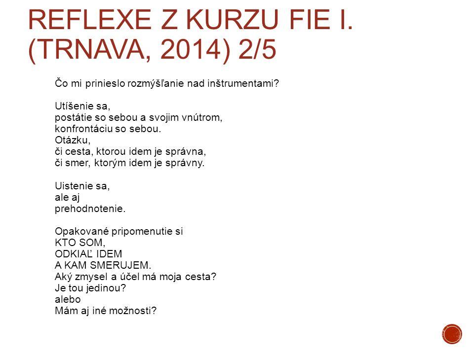 Reflexe z kurzu FIE I. (Trnava, 2014) 2/5