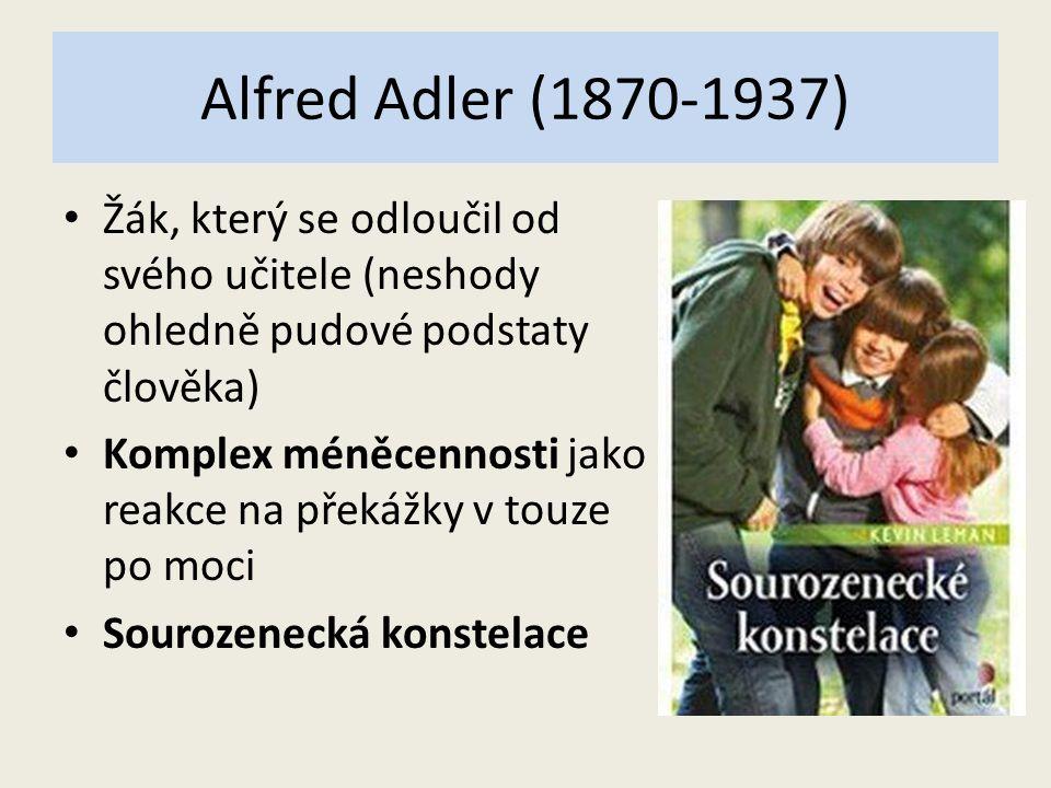 Alfred Adler (1870-1937) Žák, který se odloučil od svého učitele (neshody ohledně pudové podstaty člověka)